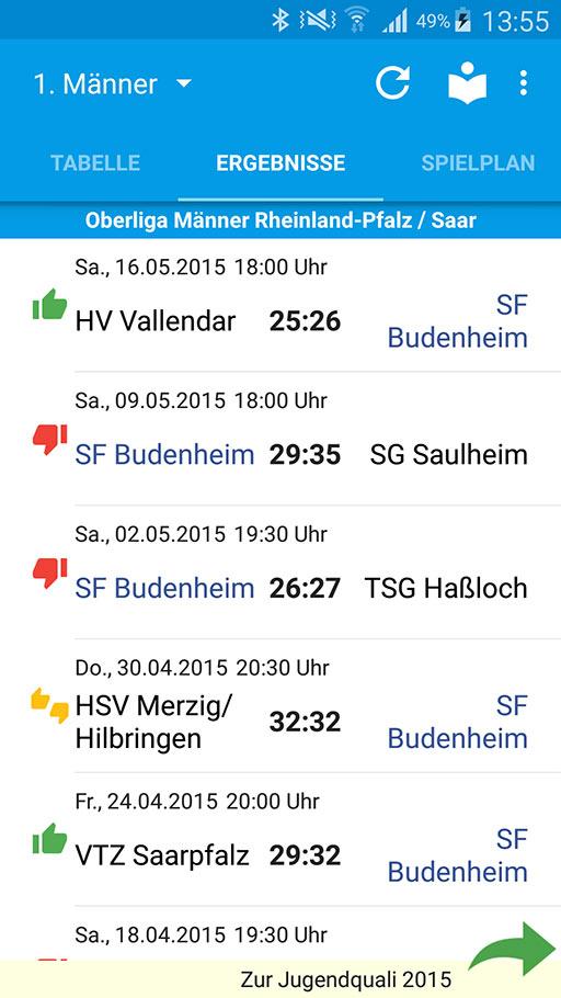 Handball-App DJK SF Budenheim Android