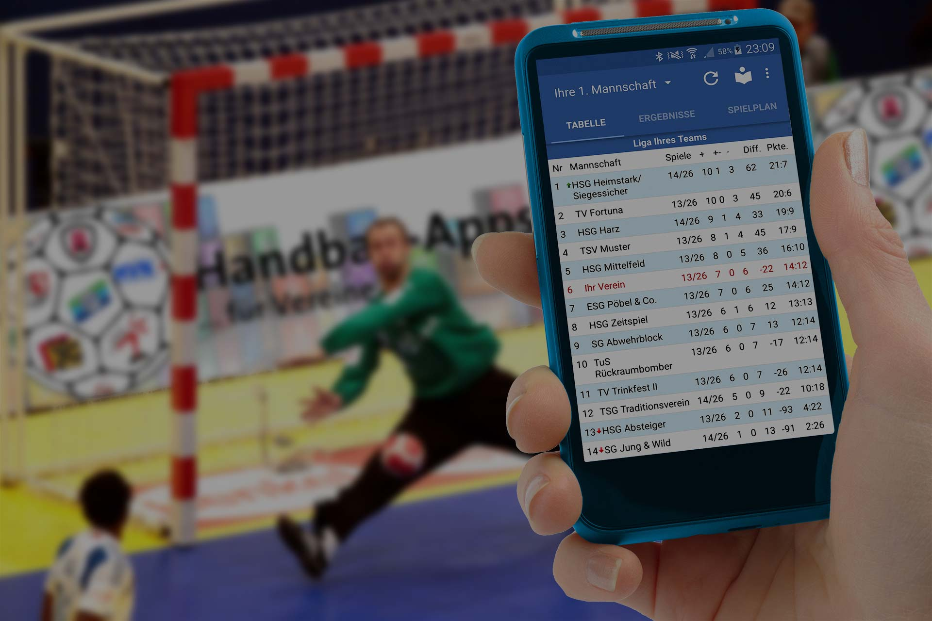 Handball-App Titelbild