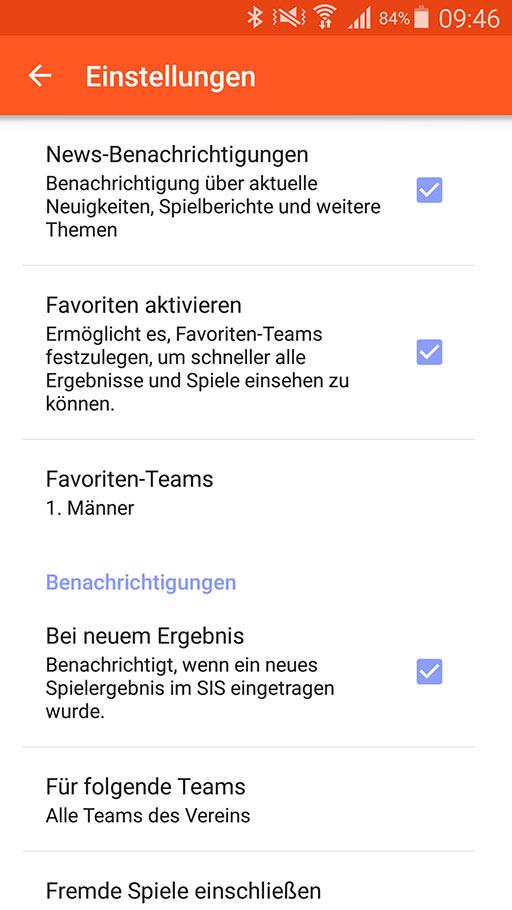 Handball-App SV Kaufungen 07 Android